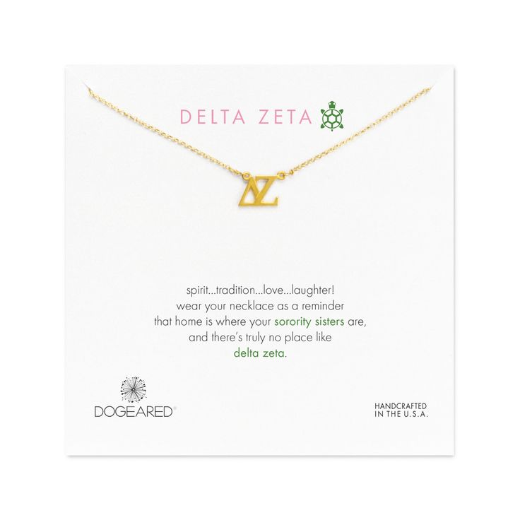 Delta Zeta Necklace, Gold Dipped | Dogeared