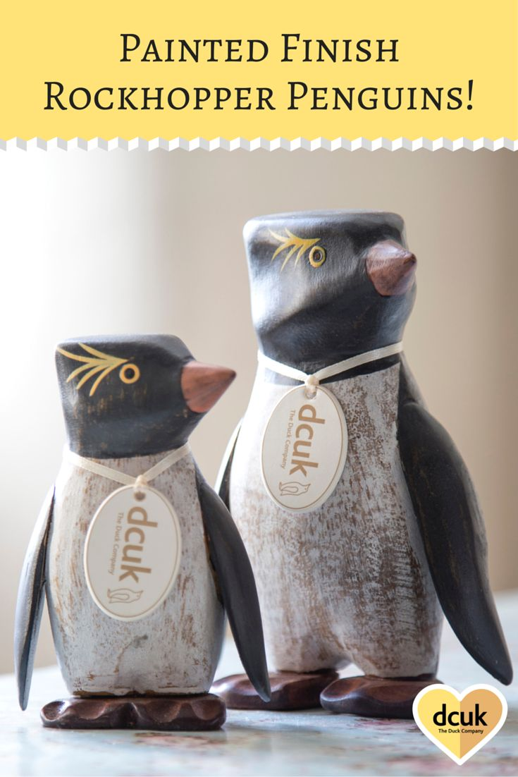 Our Rockhopper penguins come in either natural or painted finishes, and each can be personalised with the name of your choice - making lovely gifts or home accessories! View our complete collections of penguins, ducks and owls at the Duck Company, DCUK!