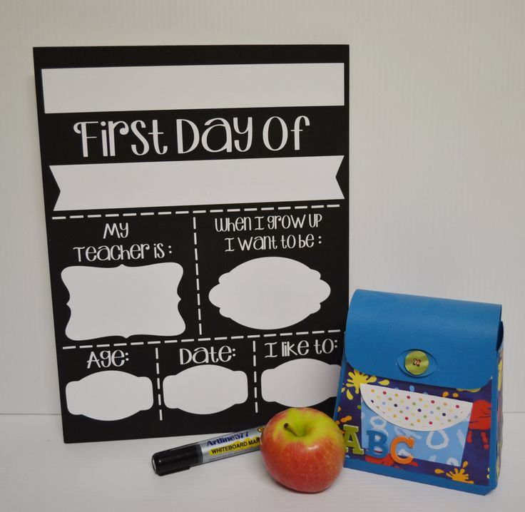 First Day of School/Back to School Wooden wipeable sign by MadePryor on Etsy