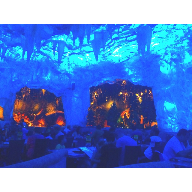 Dining in the Geode Room @ T-Rex Restaurant. Downtown Disney.