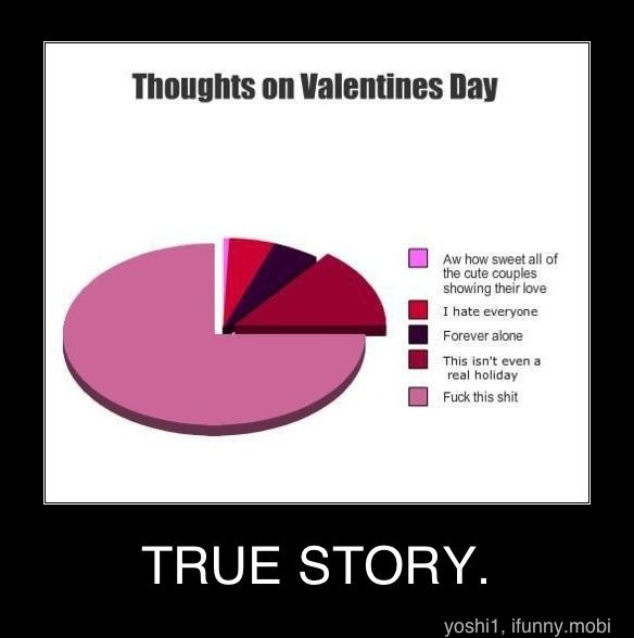 the truth behind valentines day hahah so true - Forever Alone Valentines Day