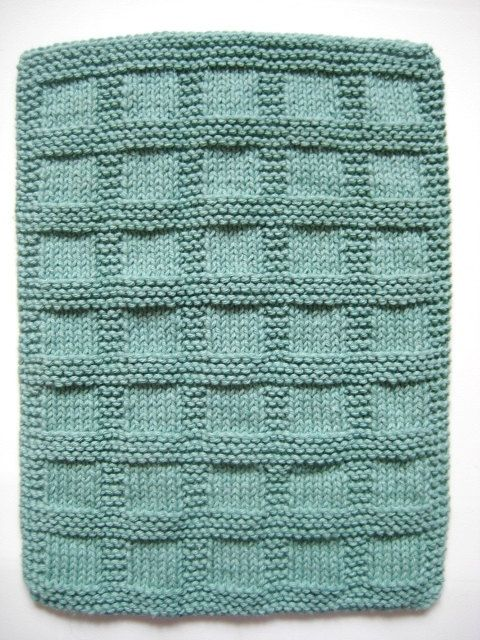 Hand Towels Sea Green Bluegreen Hand Knit by CozyKitchenKnits