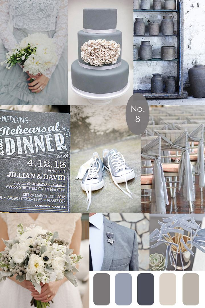 Grey Wedding Inspiration :: Board 8