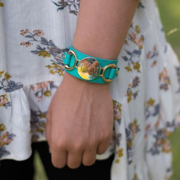 "So trendy, and colorful with beautiful gold horse bit accents, our Engraved Leather Cuff Bracelet is eye catching and loaded with style. It will be the perfect addition to your fall wardobe. Dress it up or keep it casual, it will be your ""go to"" piece! www.beaujax.com"