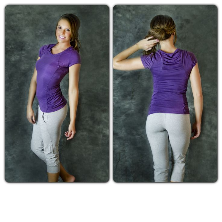 Get Slim Tee only $16.99 Extremely soft and flattering. Comes in purple, hot pink, and green.    Get them here: http://getfitwear.com/product/get-slim-tee/