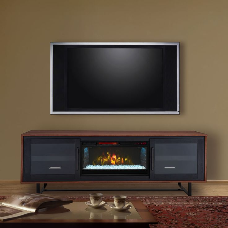 Emerson Infrared Electric Fireplace Entertainment Center in Walnut- CS-28MM10521-WAL