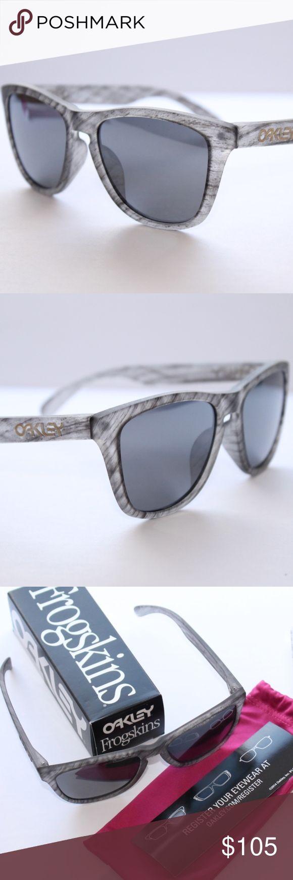 Oakley Frogskins Sunglasses Woodgrain Black Iridiu Brand New 100% Authentic Oakley Frogskins Sunglasses Woodgrain Black Iridium oo9013-B655 55/17 133 Oakley Accessories Sunglasses