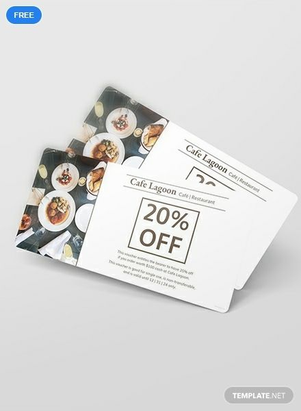 Grab This Food Voucher Template That You Can Use For Your Restaurant Free To