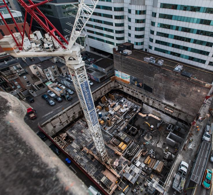Work continues at 87 Peter in Downtown Toronto.