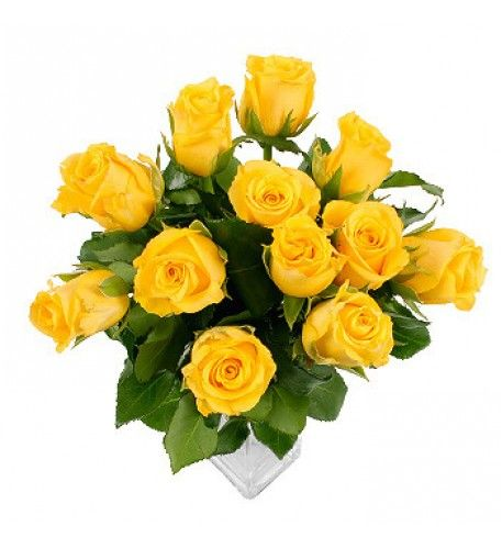 A bouquet of yellow roses epitomises sunny, cheerful feelings of warmth and happiness and is the symbolic rose of 50th / golden wedding anniversaries. In contrast to the romantic meanings attributed to other roses, the yellow rose is considered purely a symbol for friendship.