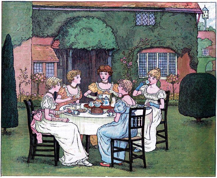 Vintage Garden Tea Party Image! - The Graphics Fairy