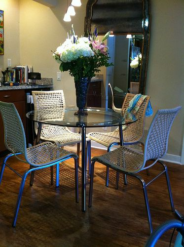 Ikea Nandor Chair, with Sallami Table... I love these together for breakfast nook!
