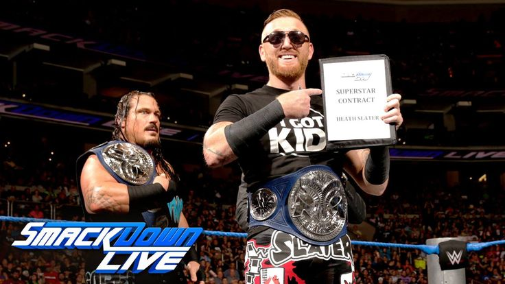 Heath Slater has OFFICIALLY joined WWE SmackDown Live, BAYBAY!!!