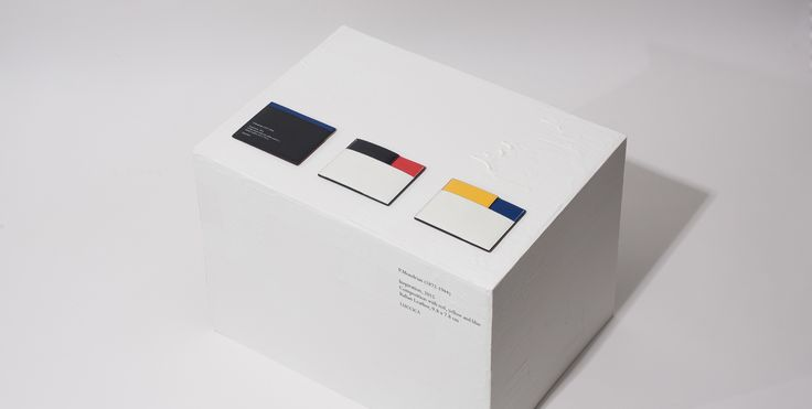 P.Mondrian cardwallet P.Mondrian (1872-1944) Inspiration, 2015 Composition with red, yellow and blue Italian Leather, 9.8 x 7.8cm #LUCCICA #L32 #cardwallet #yellow #blue #white #red #black #leather #leathergoods #15fw #Mondrian