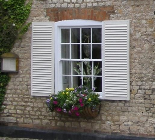 1000 images about shutters on pinterest - Exterior wooden shutters for windows ...
