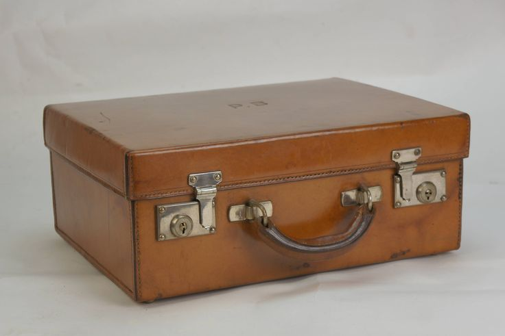 Exceptional Antique Tan Leather Vanity Dressing Case with Tray by EnglishLeatherTrunks on Etsy
