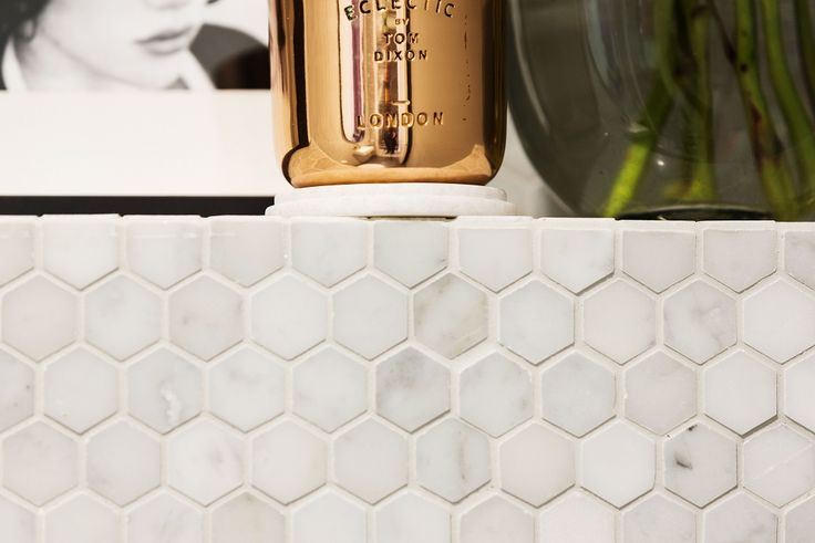 Hexagons are set to be a big tiling trend in 2015. The Mos Tosca Glacier Hex Stone proved to be a winning feature on The Block Triple Threat. For more Bathroom tiling ideas, visit http://www.beaumont-tiles.com.au/Room-Ideas/Bathrooms