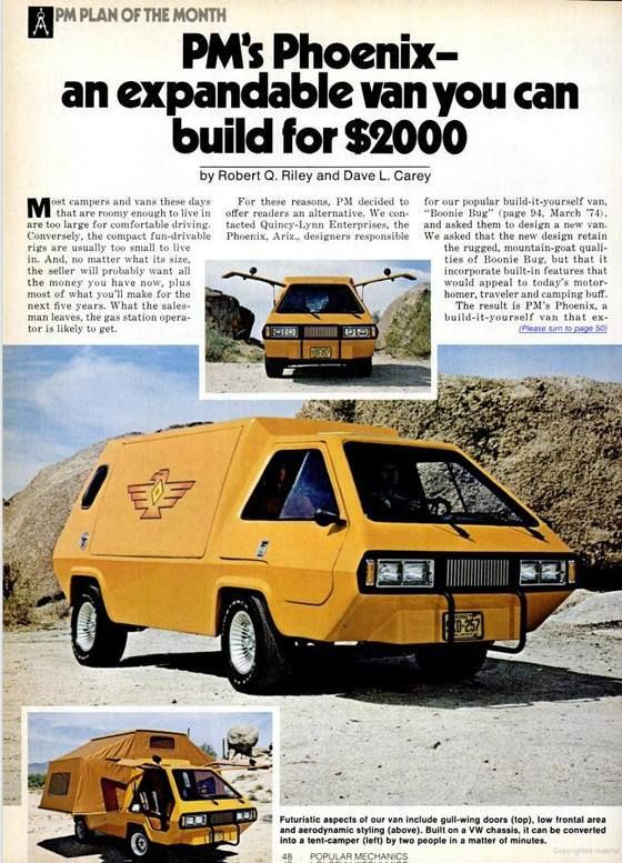 Truck Camper Plans Build Yourself: Phoenix Custom VW Van, Plans Still Available Here.