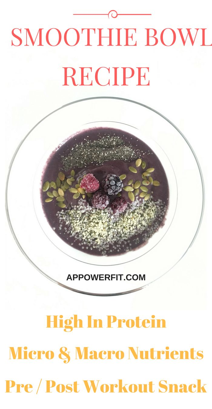 Healthy & delicious smoothie bowl recipe that's quick and easy to make.