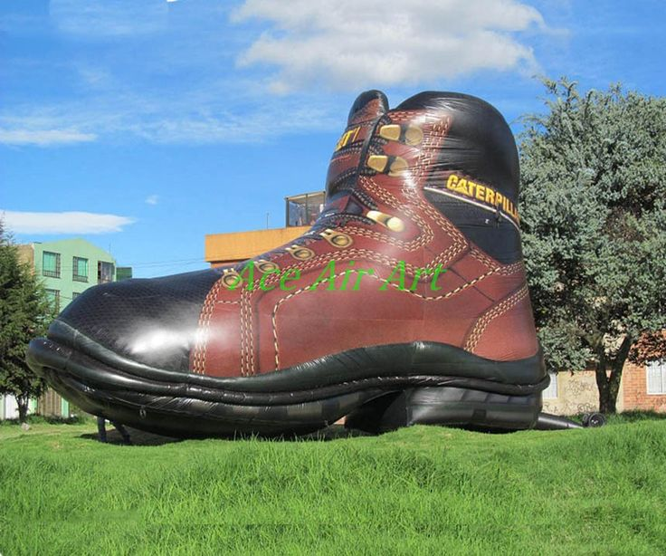 Big inflatable shoes model giant inflatable shoe for