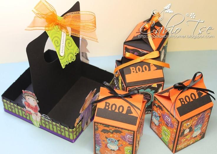 cabios craft corner magnolia halloween milk carton and holder project - Halloween Cartons