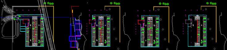 Estacionamiento resuelto en Cuatro niveles - Cincuenta y siete automóviles por nivel