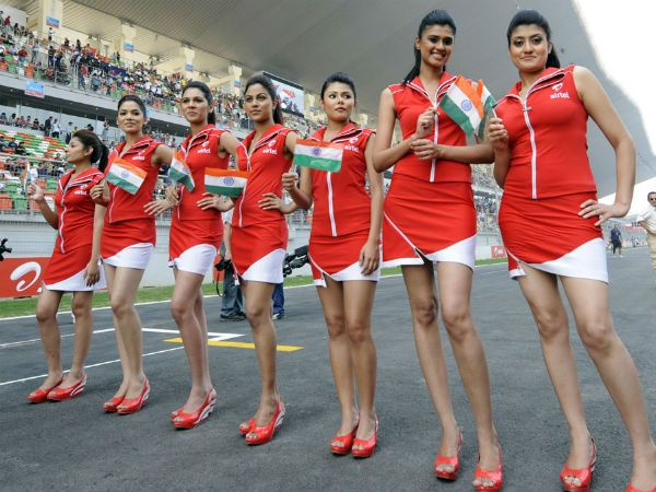#Airtel Grid Girls at the F1 India GP#chronowatchco