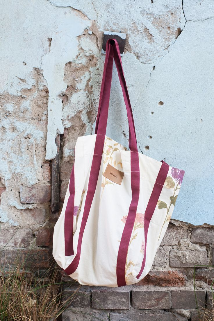 BOHO bag made from cotton with hidden zipped pocket.  www.boho.lu/store