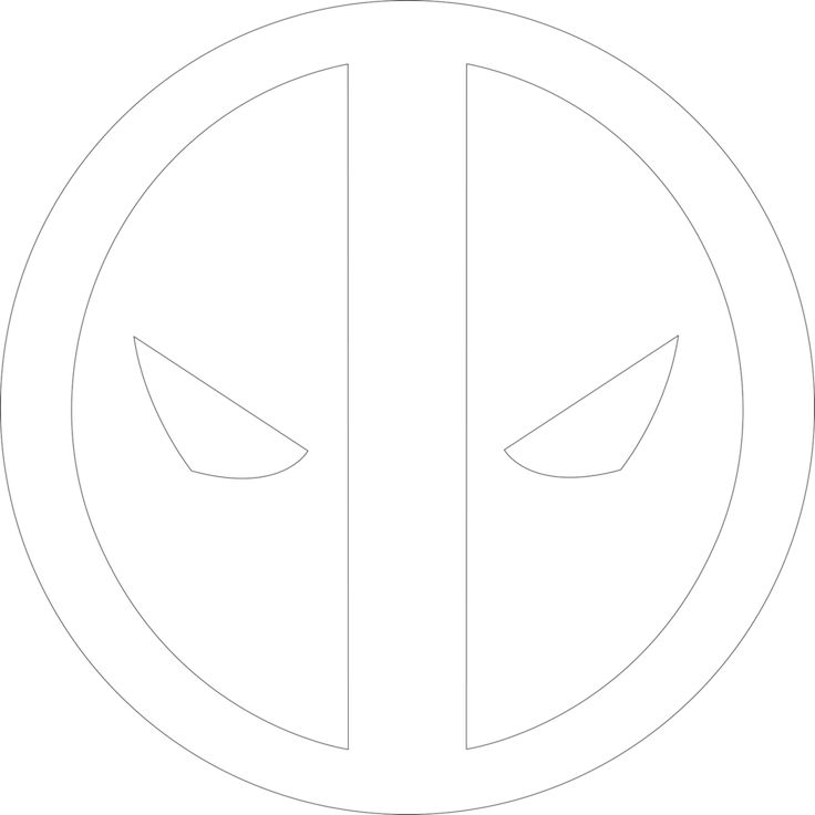 Deadpool Tattoo Outline: 114 Best Comic Book Hero Symbols & Logos Images On