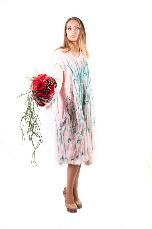 nuno felted dress for sale