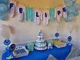 ... fotos de chá de bebê simples decoração simples para chá de fralda