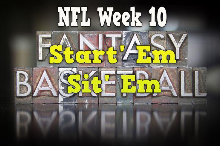 2017 NFL Season -- Week 10 Start 'Em or Sit 'Em