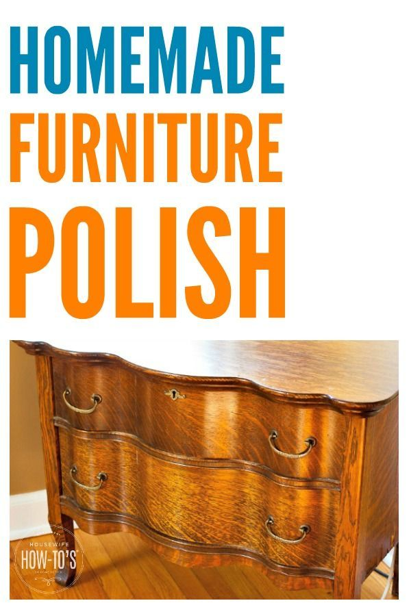 Homemade Furniture Polish Recipe Cleans Shines And Protects With One Spray I Had Everything Needed In My Kitchen Homemadecleaner Naturalcleaning