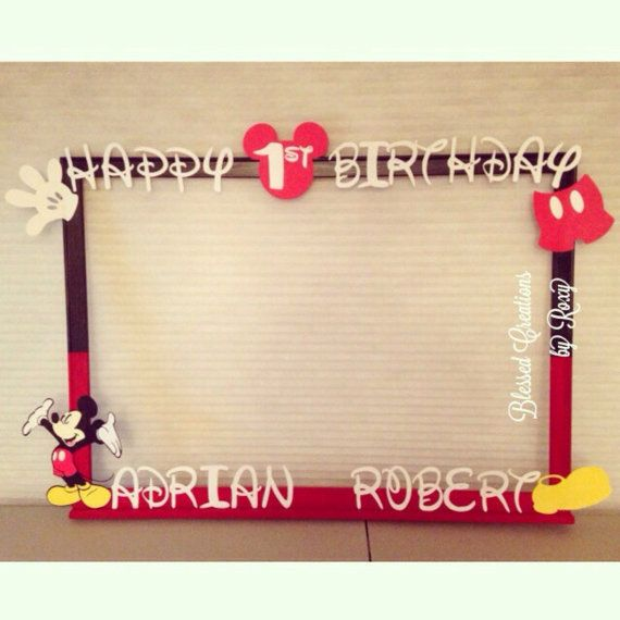 Hey, I found this really awesome Etsy listing at https://www.etsy.com/listing/195592196/mickey-mouse-photobooth-frame-photo