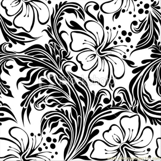 hibiscus coloring pages free printable coloring page hibiscus seamless pattern other