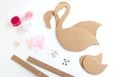 Materials for a Flamingo Pinata