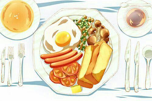 Breakfast; Anime Food