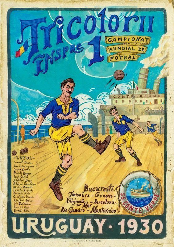 Primer Campeonato Mundial de Fútbol, en Uruguay en 1930. Viaje en barco de la Selección de Rumania