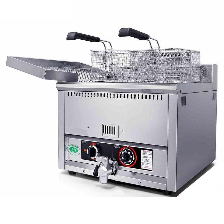 725.00$  Watch now - http://alijrk.worldwells.pw/go.php?t=32675584740 - 17L Commercial Countertop Gas Deep Fat Fryer _Gas Potato Chips Fryer_ Gas Fryer Machine 725.00$