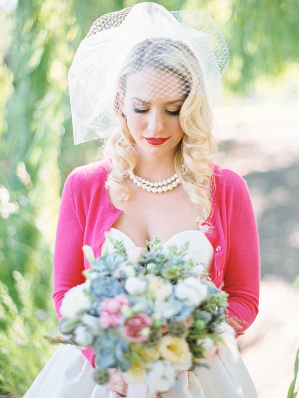 bride in a cardigan // photo by Michele Beckwith // http://ruffledblog.com/the-notebook-inspired-wedding
