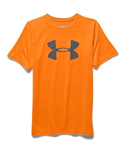 What is there not to like about this boys size small under armour brand shirt  in a fun orange color?  under armour from everything i have read makes quality products.  and the bright color would be great  for not getting separated from family at a bus...