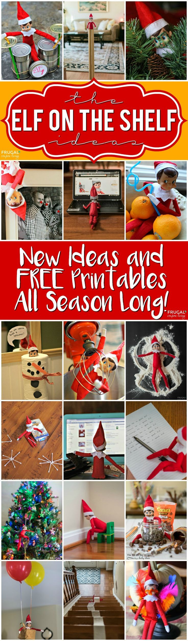 Funny elf on the shelf ideas and free elf on the shelf printables on frugal coupon
