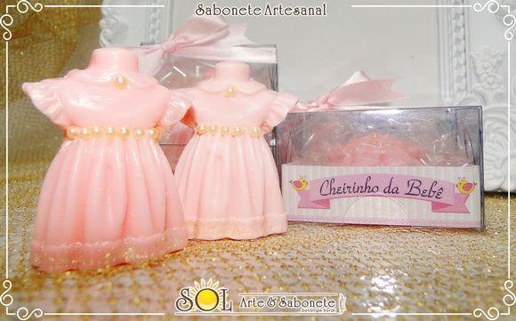 Vestido - Lembrancinha Sabonete
