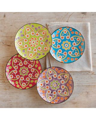 Can you believe plates this pretty are dishwasher and microwave safe? Buy the set of four here: http://www.bhg.com/shop/viva-terra-winter-garden-plate-and-bowl-sets-p50b863eae4b0160d46ad65ee.html