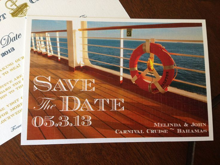 Deposit Cruise Wedding Save the Date Postcard by TheStylishScribe, $15.00