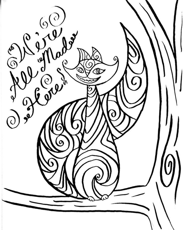 kitty cheshire coloring pages - photo#22