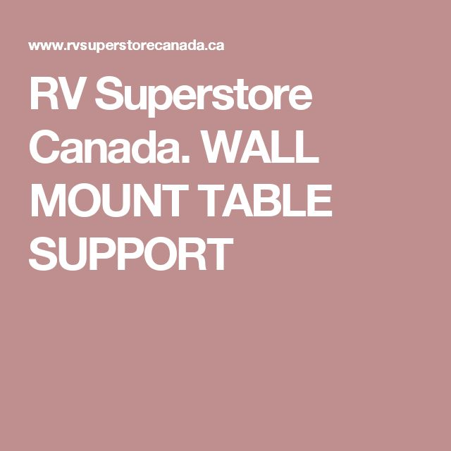 RV Superstore Canada. WALL MOUNT TABLE SUPPORT