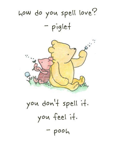 Winnie the Pooh und Ferkel zitieren Wand Aquarell …