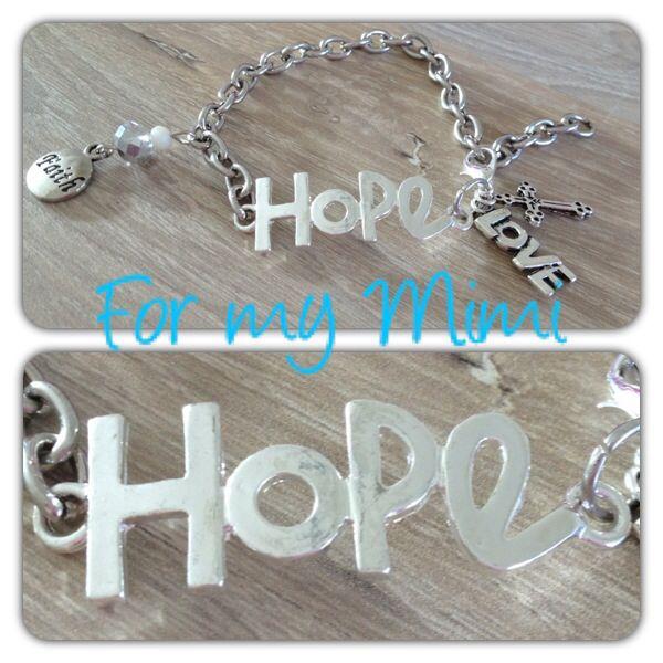 Hope zilver bracelet