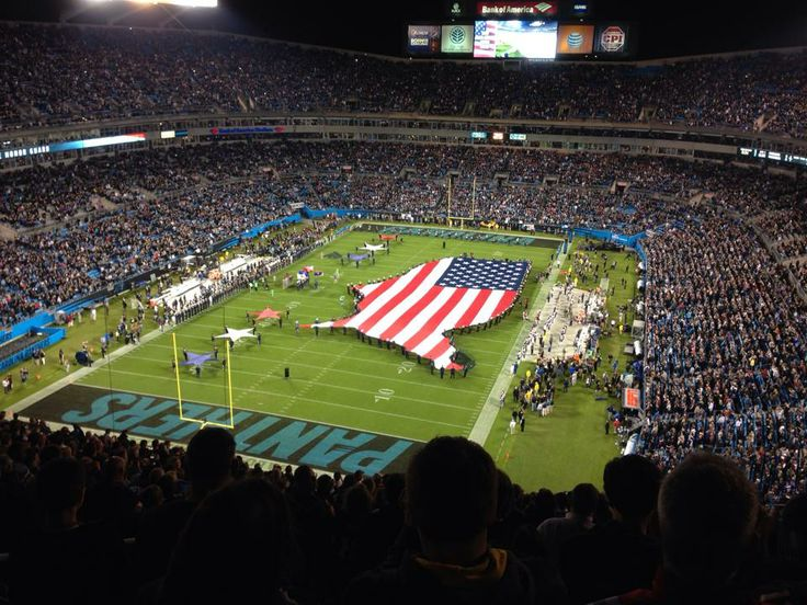 Monday Night Football! Panthers win against New England patriots! Way to go guys~